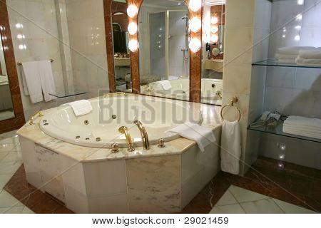 Modern bathroom  in a luxury home