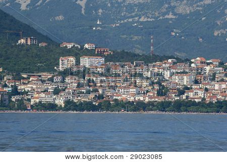 Sea view of Crikvenica, little city on Croatian coast
