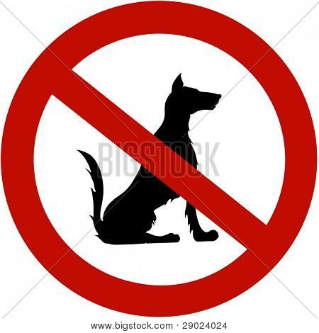 Restricted for dogs (illustration sign)