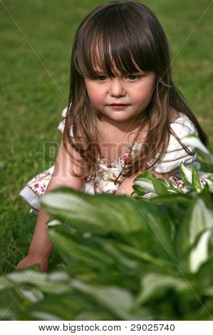 Cute little girl in the park
