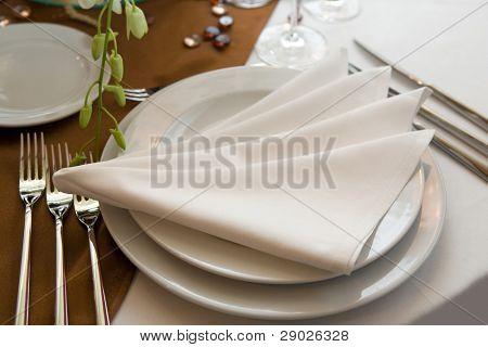 luxuriöse Hochzeit Abendessen