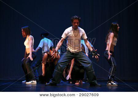 ZAGREB, CROATIA - MAY 08: Group dancer performance on Belly Freaks Show, May 08, 2010 Zagreb, Croatia.
