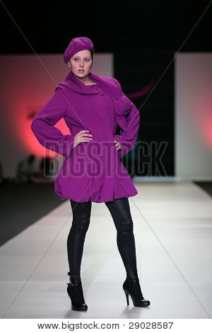 "ZAGREB, CROATIA - JUNE 10: Fashion model wearing Zrinka Hudi design at ""Fashion Week Zagreb"" fashion show June 10, 2010 in Zagreb, Croatia."