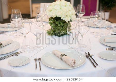 Tabelle für eine Veranstaltung Party oder Hochzeit
