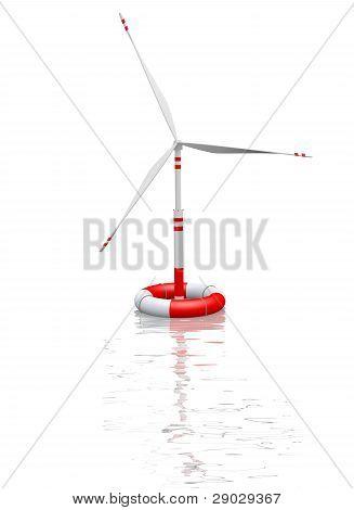 Wind Turbine In Save-buoy