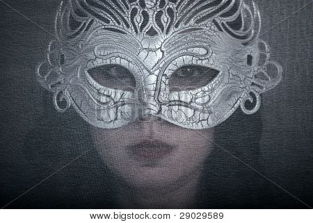 Art Portrait Woman In Mask