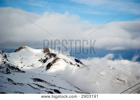 Moutain Peaks At Pyrenees