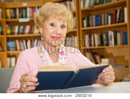 Senior Woman In Library