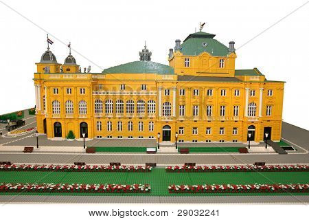 Croatian National Theater building made of blocks