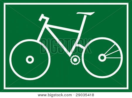 silhouette picture of mountainbike