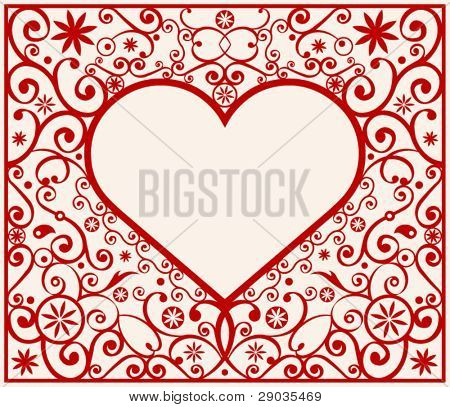 pattern heart frame