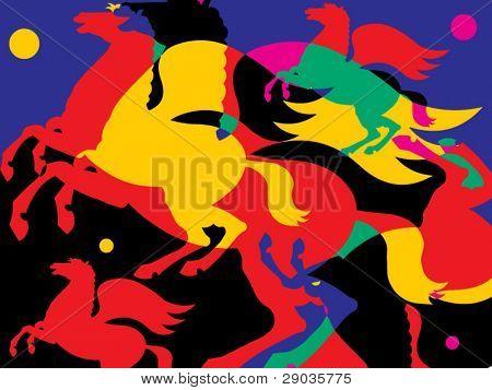 colour pegasus background
