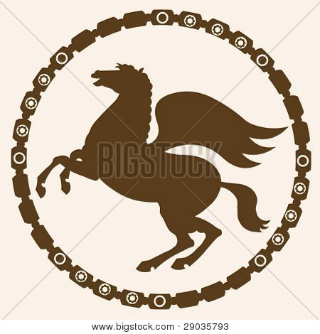 silhouette picture of pegasus