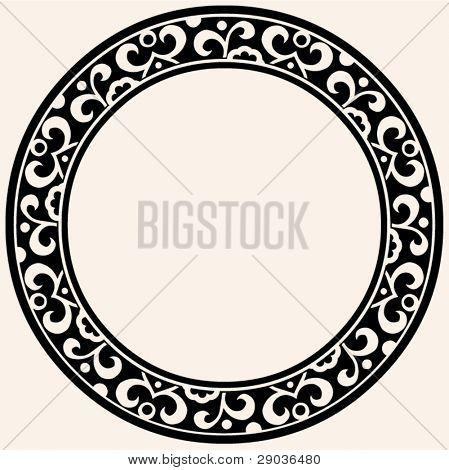 marco decorativo redondo