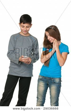 Fashion  Teenagers With A Cell Phone