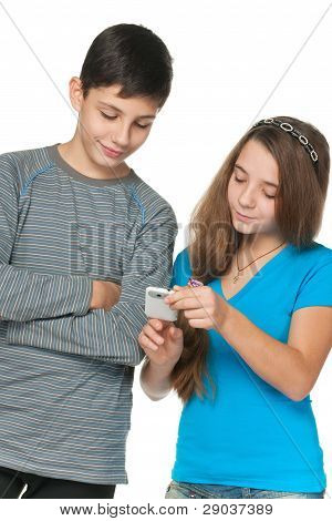 Fashion Kids With A Cell Phone