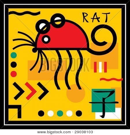 rat, sign of the oriental calendar