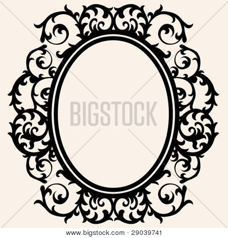 curly baroque frame