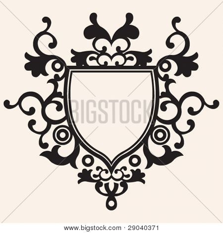 ornate floral escutcheon