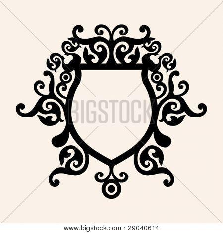 decorative curly escutcheon