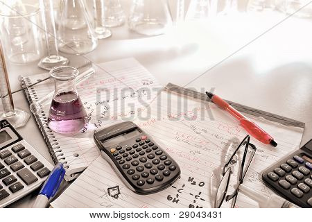Scientific Calculator And Chemistry Formulas Notes