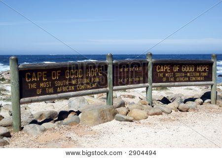 Cape Of Good Hope Signpost