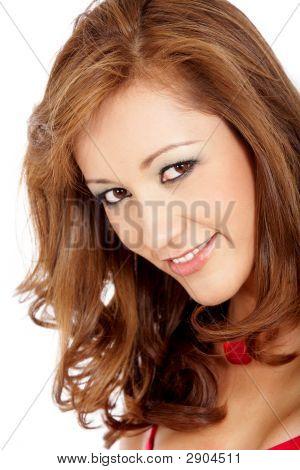 Casual Frau lächelnd portrait