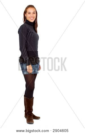 Casual Woman Standing Up