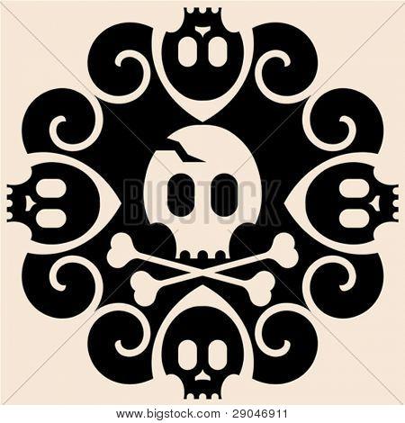 abstrato decoração de halloween