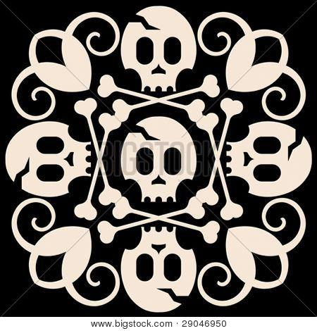 skull and crossbones decoration