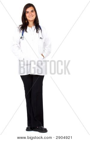 Female Doctor Standing Up