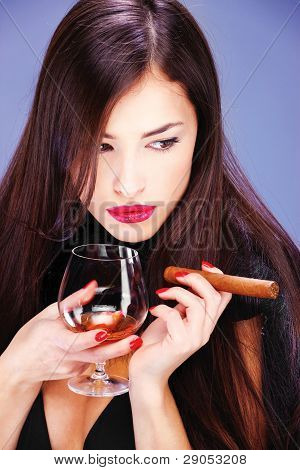 Woman And Cigar