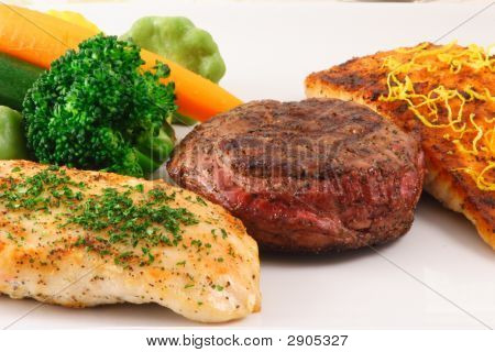 Perfect Three Meats Plate