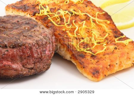 Beef And Salmon Plate