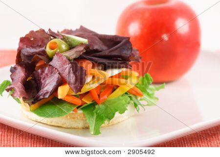 Sanduíche de vegetal orgânico fresco