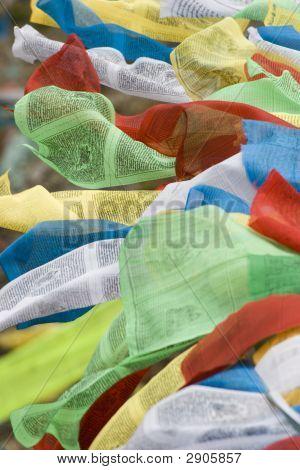 Tibetan Prayer Flags In Tibet