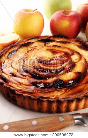 Apple Tart Gourmet Traditional Holiday