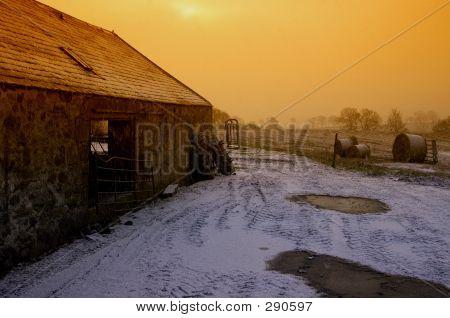 Snow Flurry At Dusk