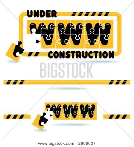 Website Construction Bars And Graphics - Under Construction - Please Return Later