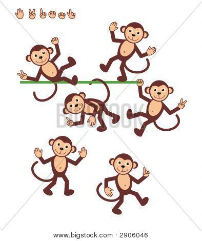 Cartoon Characters - Monkey