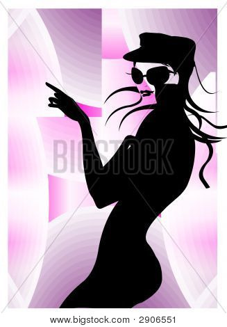 Beautiful Woman Body In Black & White