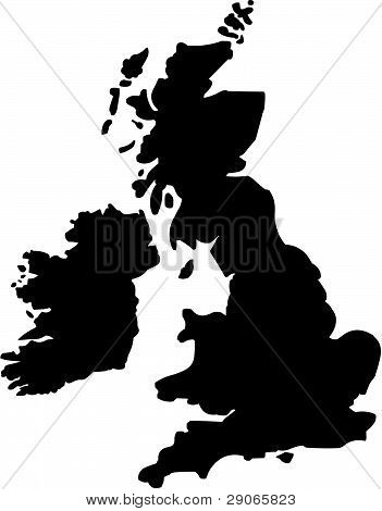 Britain - country outline.