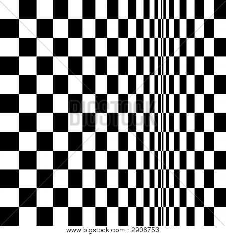 Op Art Homage To Br Distorted Checkerboard