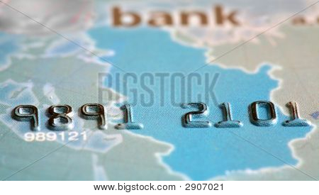 Macro Shot Credit Card Numbers