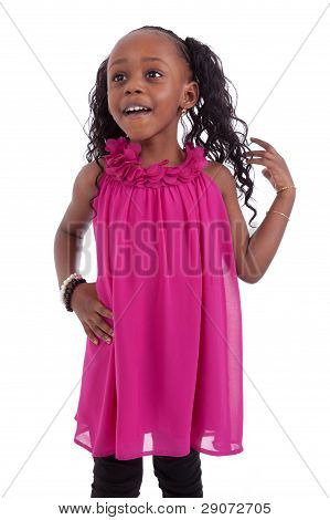 Little African American Girl Smiling
