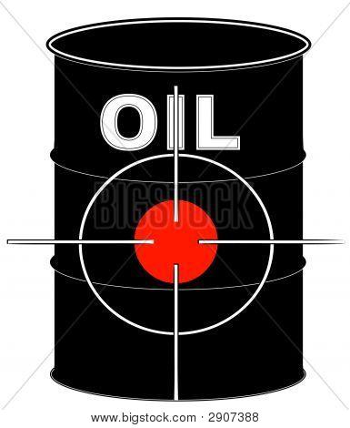 Barrel Black Oil W Crosshair Target