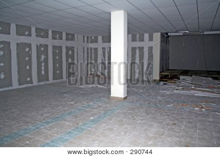 Basement Under Construction