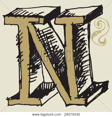 M Alphabet In 3d Letter M 3d Gold Letter M Isolated On A White Background Material ...