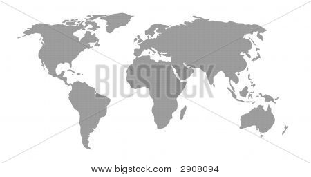 World Map Grey Pattern