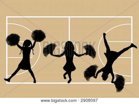 Cheerleaders Basketball 5
